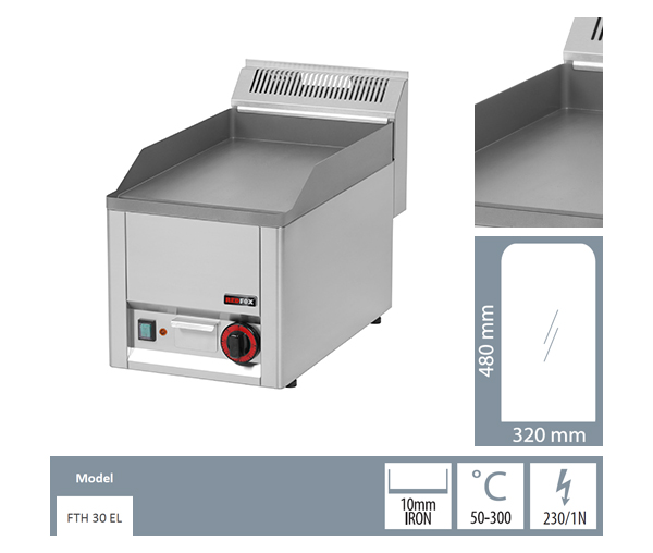 Gratar electric neted fonta FTH 30 EL_detalii