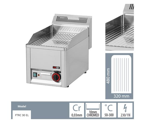Gratar electric striat fonta cromatic FTRC 30 EL_detalii