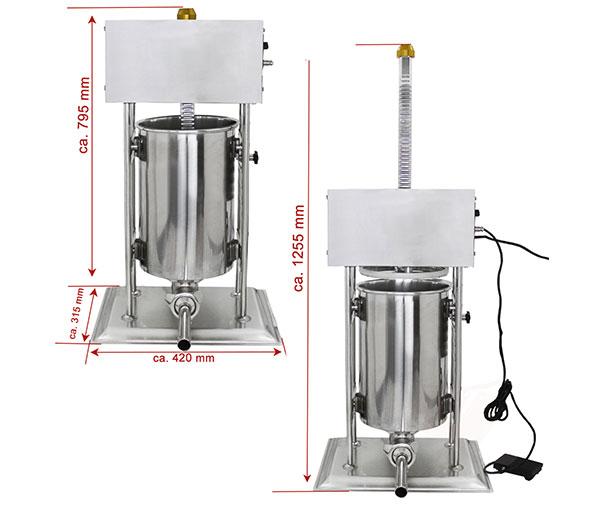 Masina-umplut-carnati-15-litri-electric-dimensiuni-new