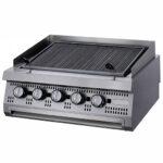 Gratar-Fry-top-striat-pe-gaz,-20-kW,-de-banc-Maxima
